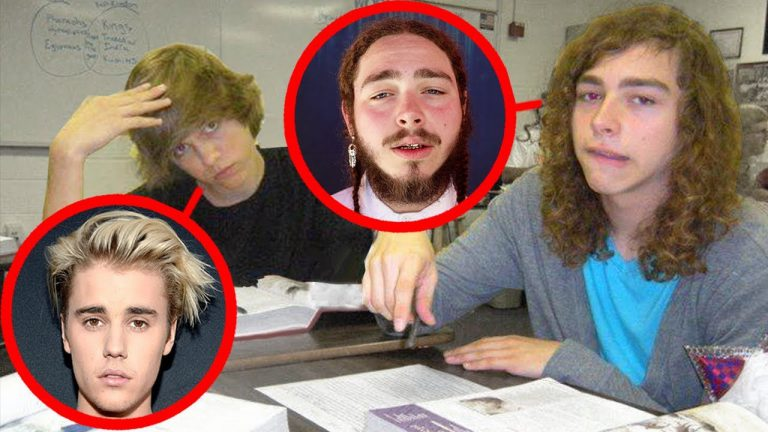 Awesome Post Malone in his young age